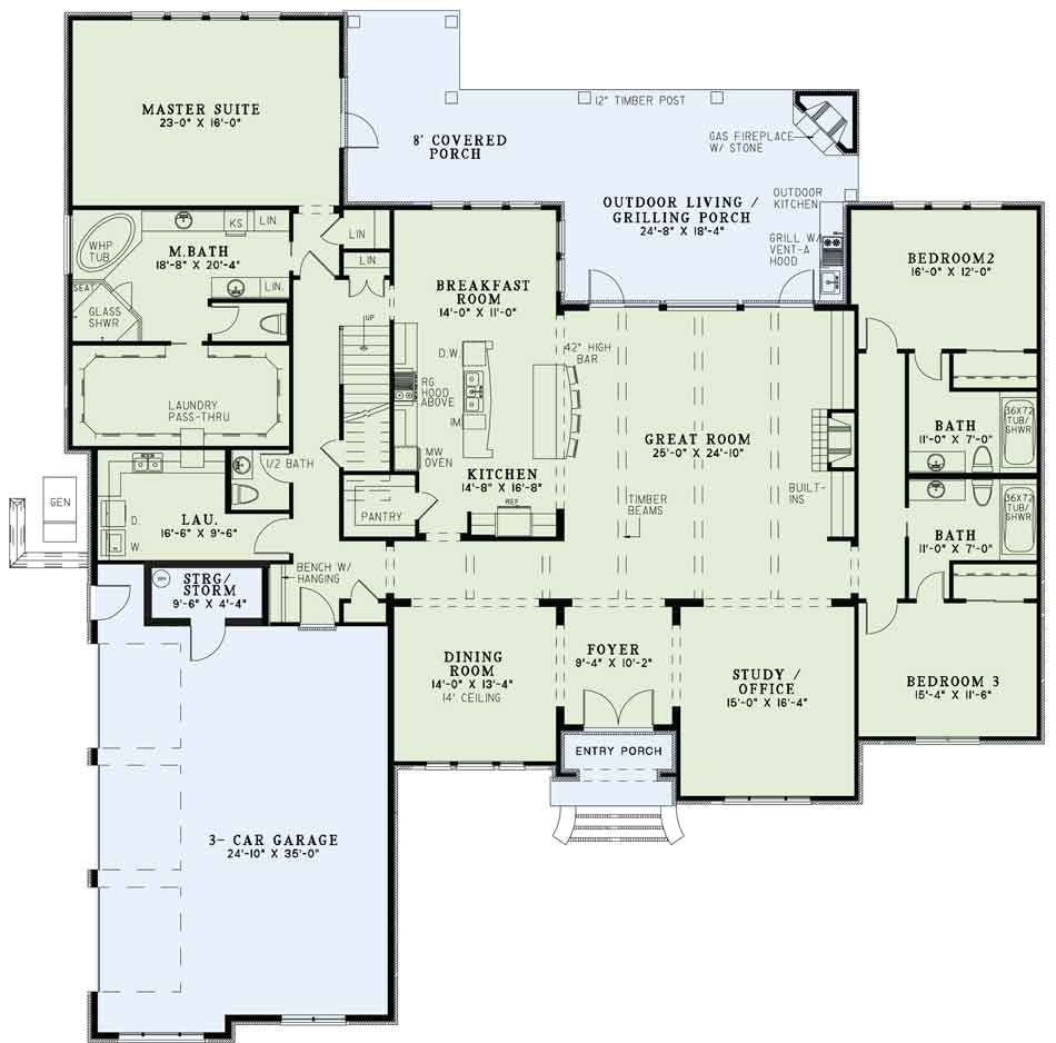 House Plan NDG1373 Main Floor