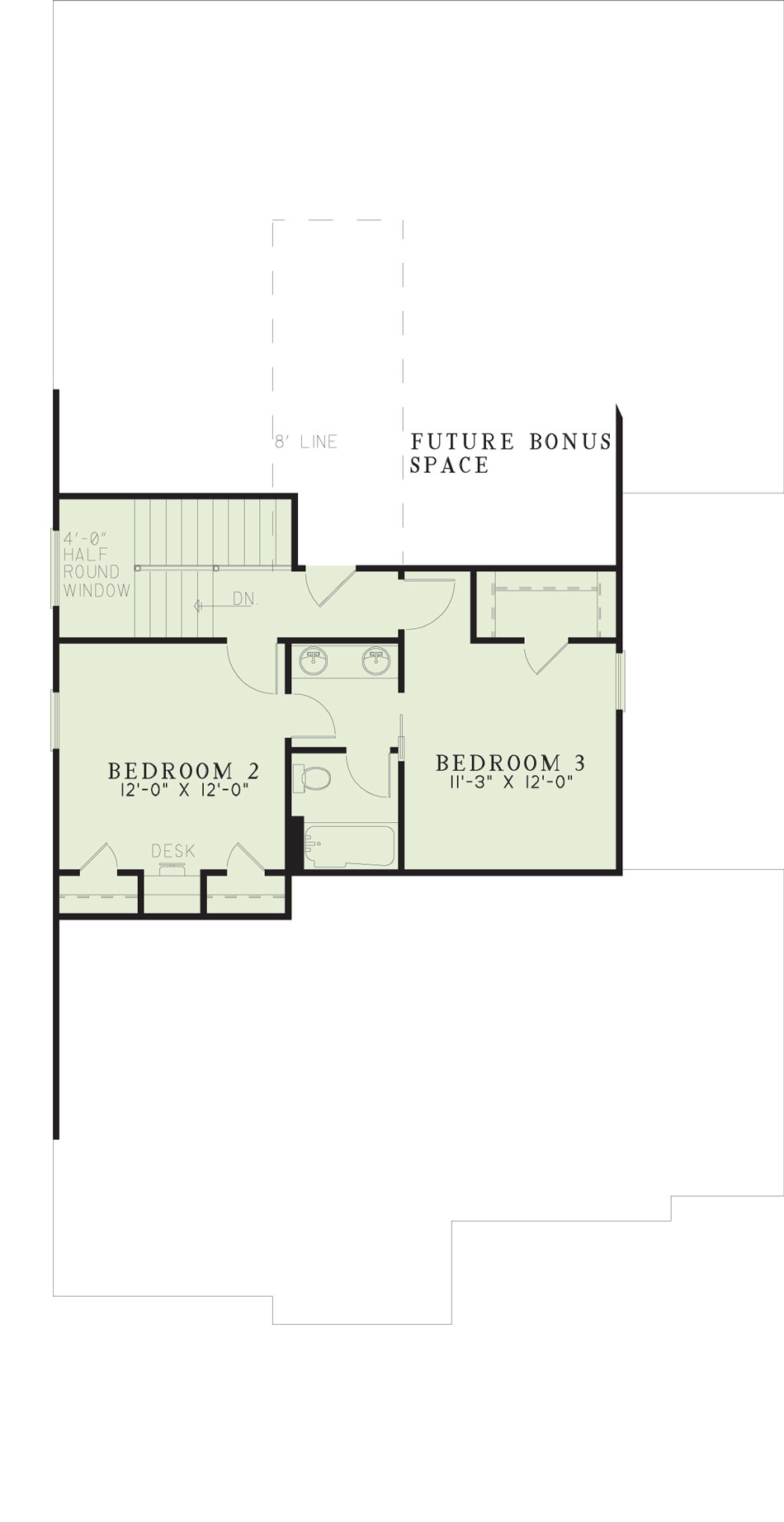 House Plan NDG 391 Upper Floor