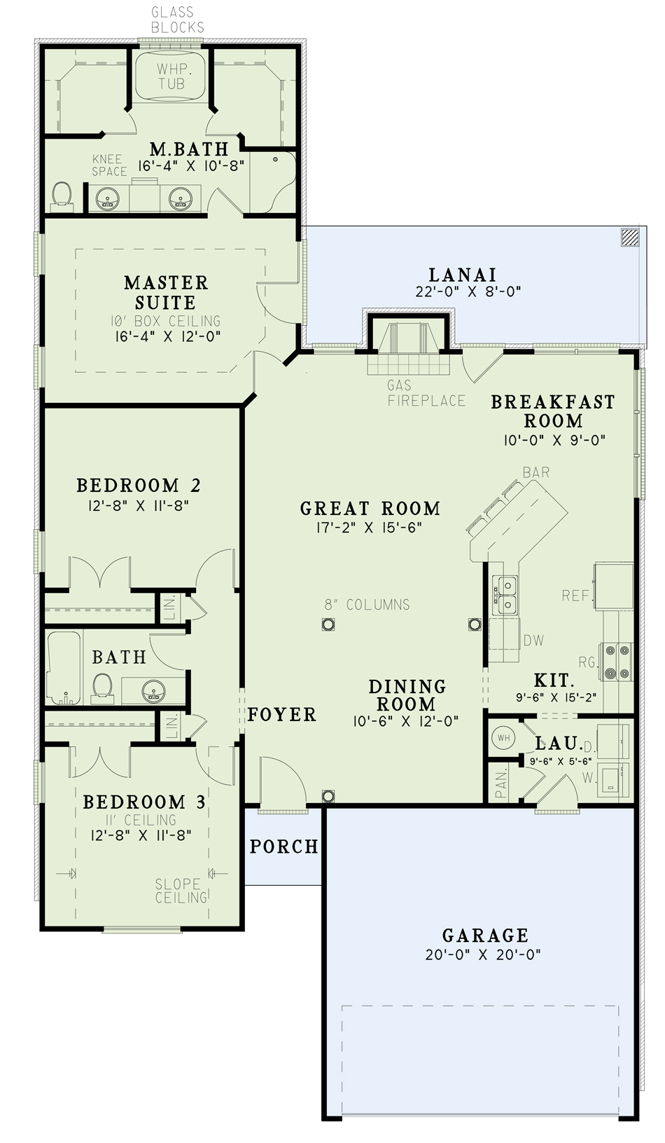 House Plan NDG 101B Main Floor