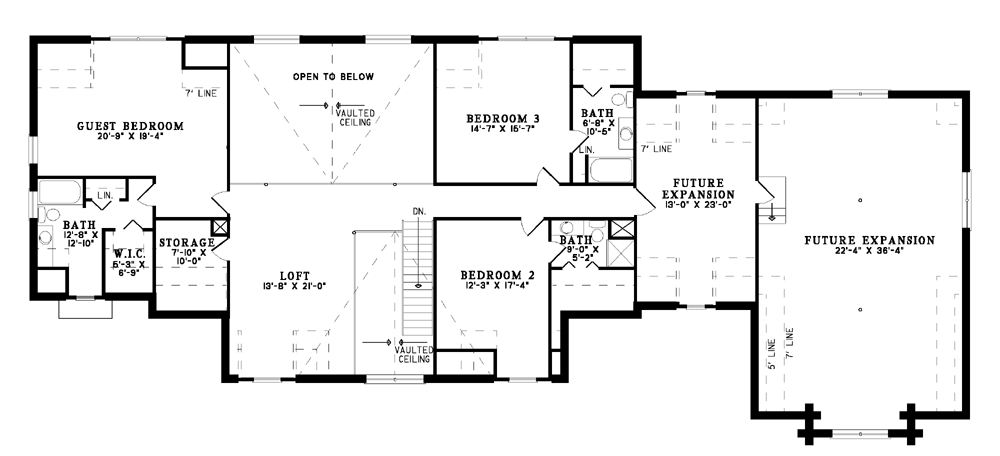 House Plan NDG B1064 Upper Floor