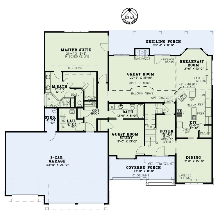 House Plan NDG 1414 Main Floor