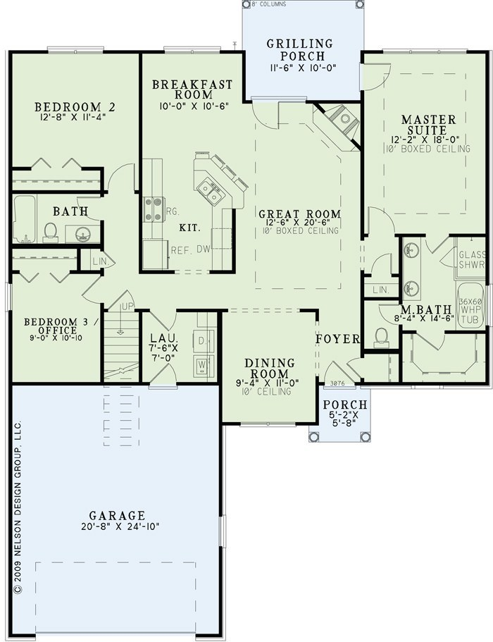 House Plan NDG 1341 Main Floor