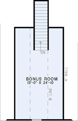 House Plan NDG 1341 Bonus Room