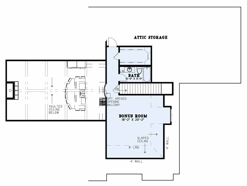 House Plan NDG 1498 Bonus Room