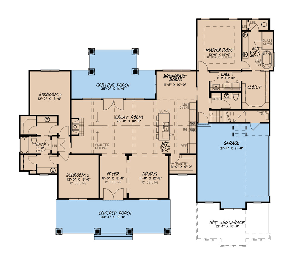 House Plan MEN 5232 Main Floor