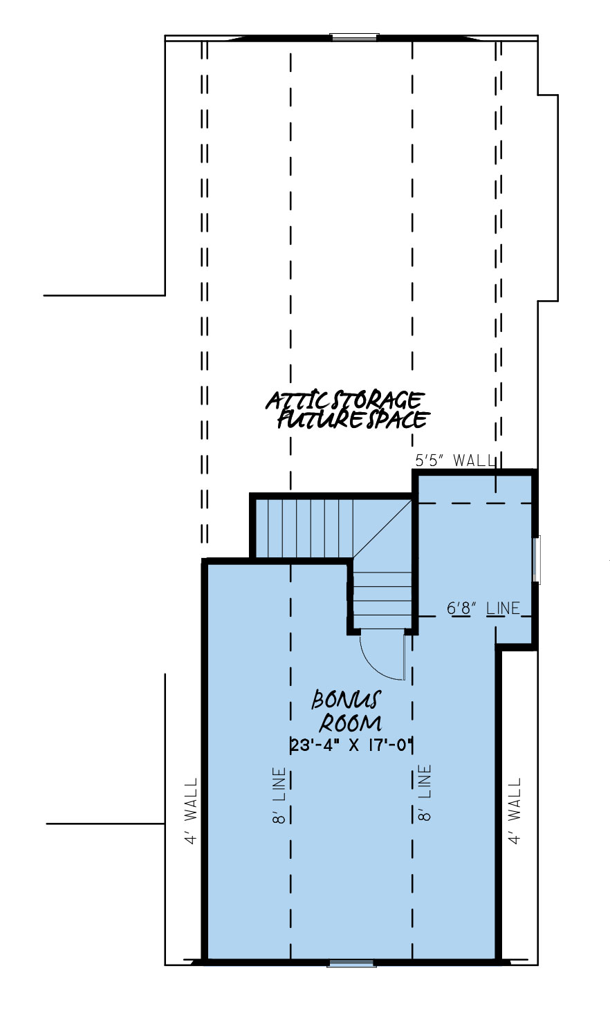 House Plan MEN 5232 Upper Floor/Bonus Room