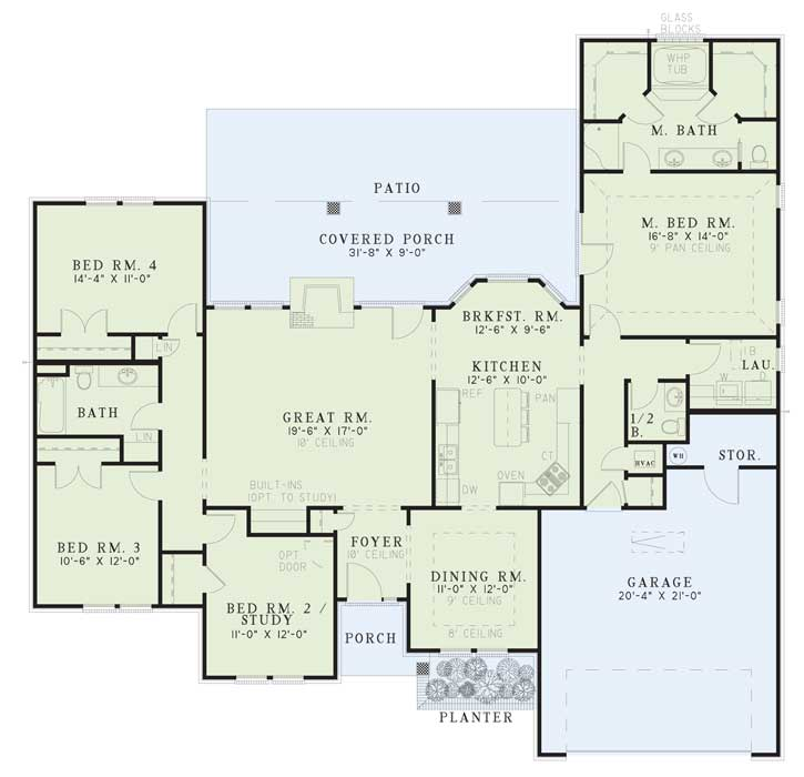 House Plan NDG 190 Main Floor