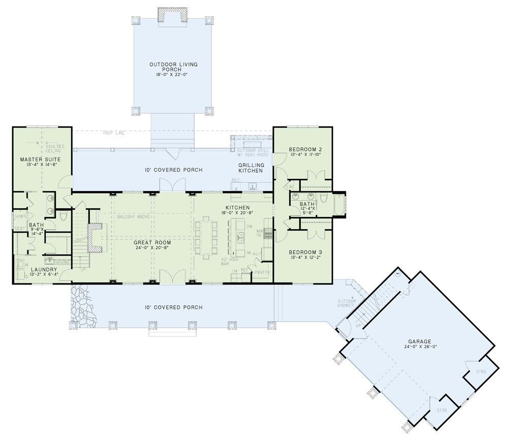 House Plan NDG 1402 Main Floor