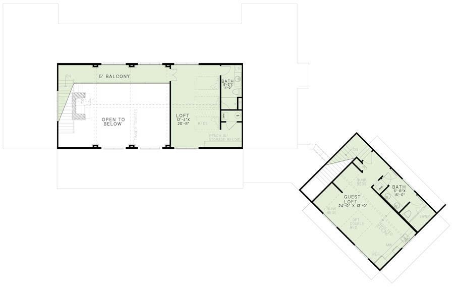 House Plan NDG 1402 Upper Floor