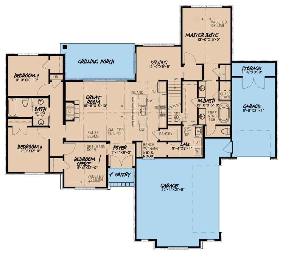 House Plan MEN 5078 Main Floor