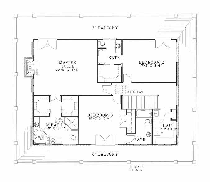 House Plan NDG 369 Upper Floor