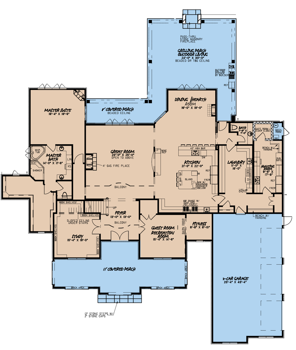 House Plan MEN 5205 Main Floor