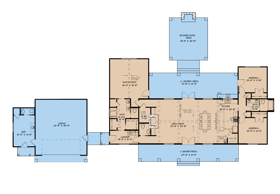 House Plan MEN 5151 Main Floor