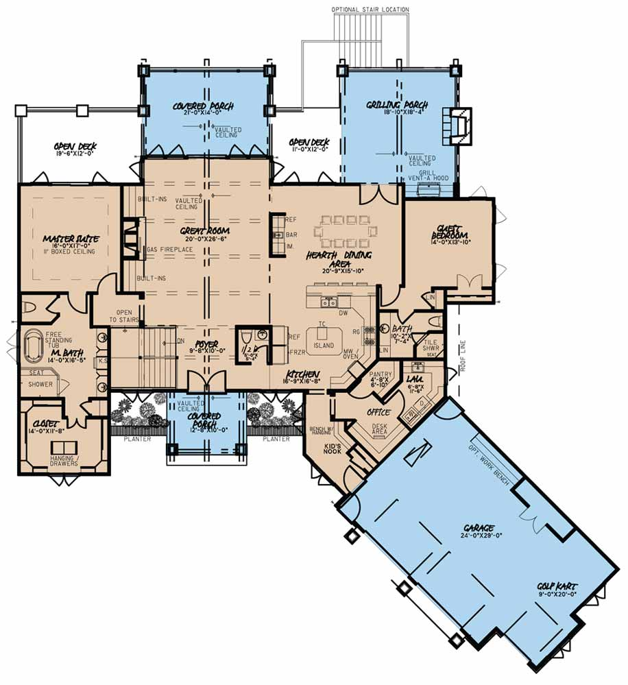 House Plan MEN 5016 Main Floor