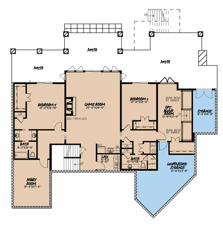 House Plan MEN 5016 Basement