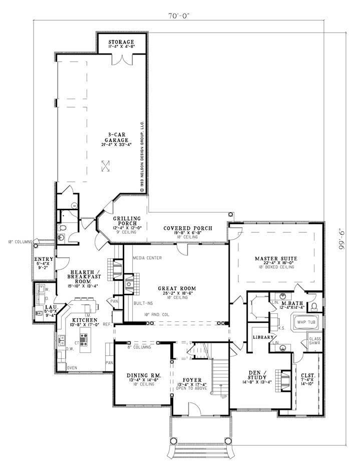 House Plan NDG 875 Main Floor