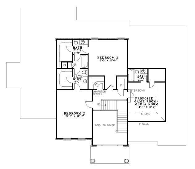 House Plan NDG 875 Upper Floor