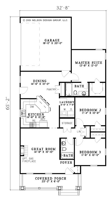 House Plan NDG 628 Main Floor