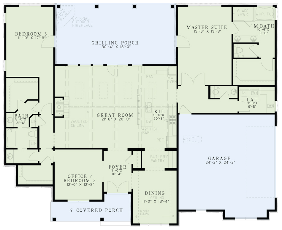 House Plan NDG 1459 Main Floor