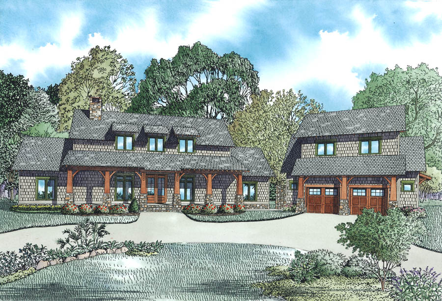 Nelson Design Group House Plan 1402 Angler S Lodge Country Home Plan