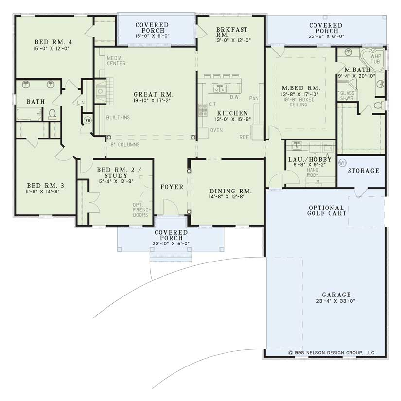 Nelson Design Group House Plan 118 Country Club Drive Traditional House Plan