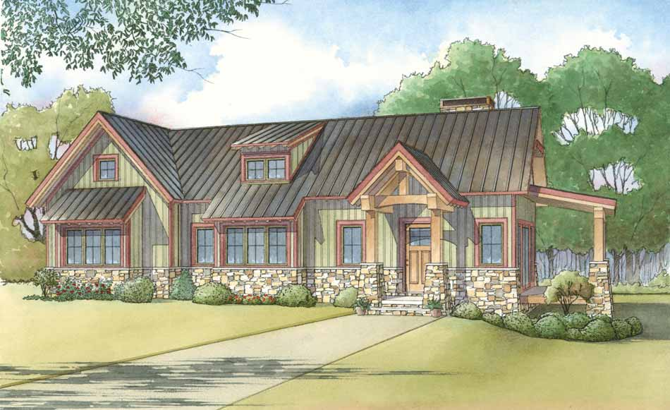 Nelson Design Group House Plan 5024 Adirondack Cottage Arts And Crafts House Plan